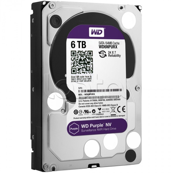 "Жесткий диск Western Digital Purple HDD 6 Tb SATA-III 3.5"" WD6NPURX"